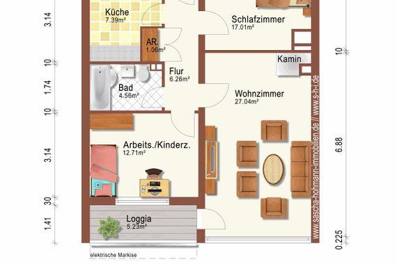 """s-h-i.de: """"3-Zimmer mit Aufzug in der 4. Etage, Süd-Balkon an der Hardt, Zentrum von Elberfeld"""""""